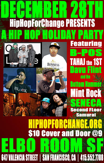 Hip Hop for Change Flier